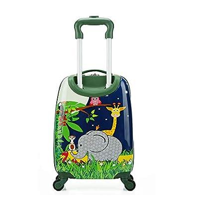 JBAG-one-18-Zoll-Kindergepck-mit-4-Spinner-Rdern-leichtem-Hartschalenkoffer-fr-Kinder-Trolley-ABS-fr-Mdchen-und-JungenElephant