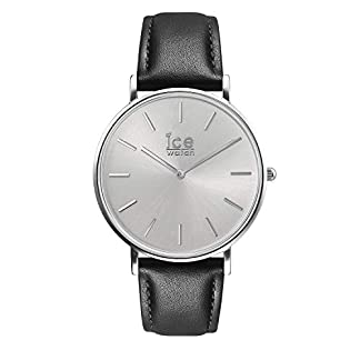 Ice-Watch-CITY-classic-Black-silver-Schwarze-Herrenuhr-mit-Lederarmband-016226-Medium