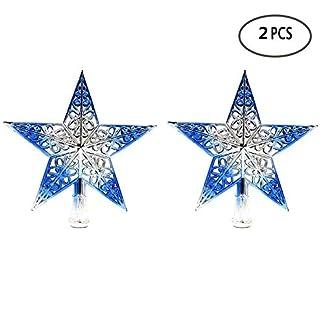 BinaryABC-Weihnachts-Star-Christbaumspitze-Weihnachtsbaumspitze-Weihnachtsbaumdekoration-ausgehhltes-Glitzernde-2-Silber-Blau