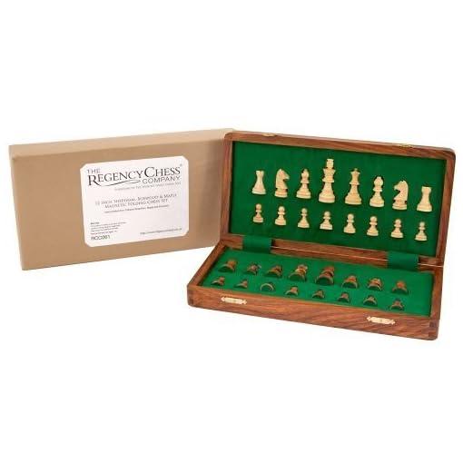 305cm-Sheesham-Buchsbaum-und-Ahorn-Magnetisch-Faltreifen-Schachspiel