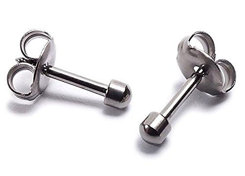 Minott Erstohrstecker Ohrschmuck Ohrringe Ø 2,8mm Titan 100% Steril 21268T
