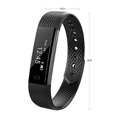 SINOTECHQIN-Armbanduhr-Bluetooth-Schrittzhler-Anpassbar-mit-Herzfrequenz-Monitor-fr-Android-iOS