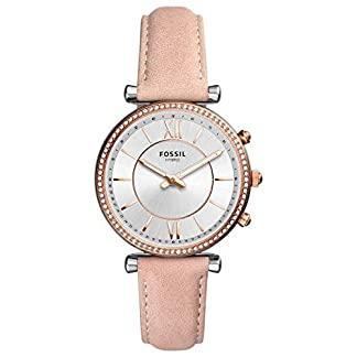 Fossil-Damen-Analog-Quarz-Smart-Watch-Armbanduhr-mit-Leder-Armband-FTW5039