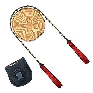 Kaleas-Handkettensge-jetzt-mit-Verschleibeschichtung-aus-Hartgold-41-Zhne-Werkzeugstahl-verlngerte-Halteschlaufen-Premium-Survival-Baumsge-Astsge-Gartensge-Schnursge-fr-Camping-Garten-Outdoor-inkl-Grt