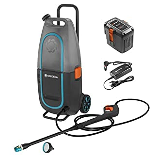 Gardena-09341-20-Set-Hochdruckreiniger-AquaClean-Li-4060-mit-Akku-und-Ladegert-schwarz-anthrazit-orange-trkis