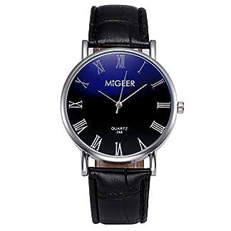 Souarts-Herren-Armbanduhr-Blu-ray-Einfach-Stil-Casual-Analoge-Quarz-Uhr-Schwarz