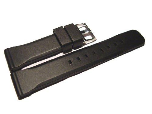 Uhrenarmband-Watchband-Berlin-Silikon-extra-stark-Wasserfest-schwarz-18mm