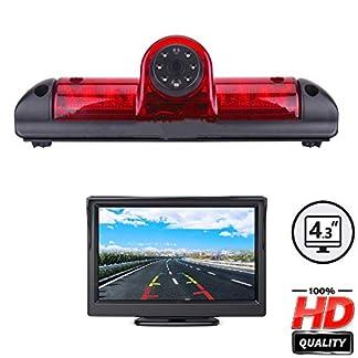 Misayaee-Auto-Dritte-Dach-Top-Mount-Bremsleuchte-Kamera-E9-Bremslicht-Rckfahrkamera-fr-Jumper-III-DUCATO-X250-Boxer-III-43-Zoll-DVD-Monitor-TFT-Bildschirm-LKW-KFZ-LCD-Display