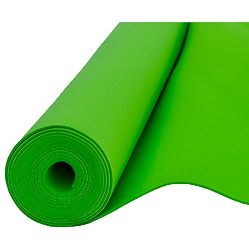 Filz, Filzstoff, Dekorationsfilz, imprägniert, Breite 100 cm, Dicke 4 mm, Meterware 0,5 lfm – grün
