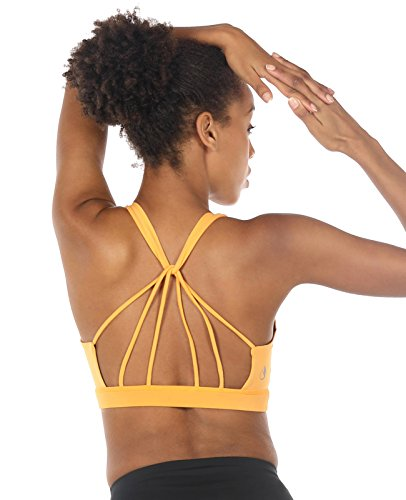 icyZone Sport BH Damen Yoga BH mit Gepolstert – Starker Halt Fitness-training Strech BH Bustier Push up Top ohne Bügel Sports Bra