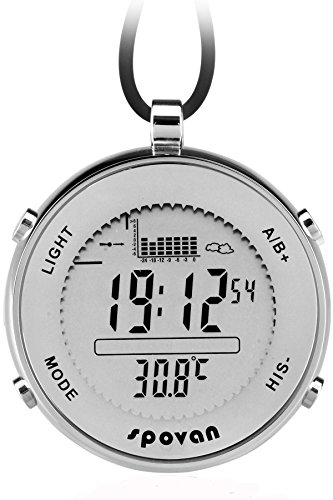 Taschenuhr-Digitaluhr-Sport-Outdoor-Herrenuhr-Altimeter-Barometer-Thermometer-Angeln-Quarz-Silber-Findtime