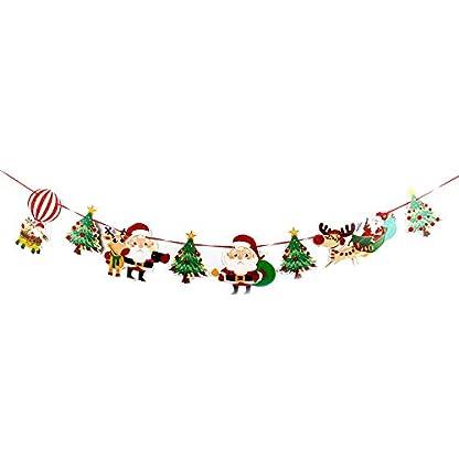 Amphia-Weihnachten-Dekoration-DIY-Frohe-Weihnachten-Banner-Kiefer-Stoff-Bunting-Girlanden-Glitzer-Stars-Hanging-Dekoration-fr-Home-Party