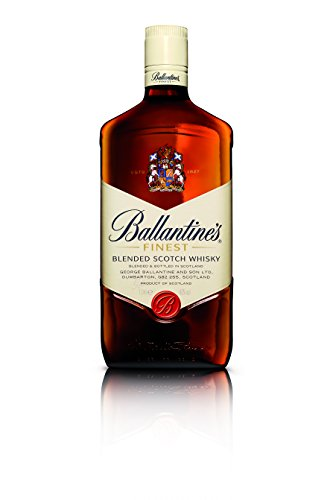 Ballantines-Finest-Blended-Scotch-Whisky–Milder-Blend-aus-schottischen-Malt-Grain-Whiskys–Mit-zartem-Geschmack-ausgereiftem-Aroma-frischem-Abgang–1-x-1-L