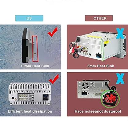 YUNTX-Doppel-Din-Autoradio-fr-Autoradio-mit-integriertem-GPS-Navigation-178-cm-Multi-Touch-Auto-Audio-mit-Rckfahrkamera