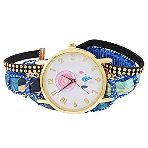 MJARTORIA-Damen-Boho-Armbanduhr-Elegant-Klein-Mode-Damenuhr-Analog-Quarz-Uhr-Blau