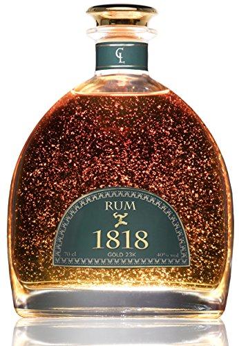 Rum-Conde-Lumar-1818-Rum-aus-dominikanischem-Zuckerrohr-23-Karat-Goldfolie-mit-Zertifikat-vom-TV-Rheinland-Dominikanische-Republik-Rum-Reserva-Exclusiva-Rum-Traditionell-hergestellter-Rum-Premium-Flas