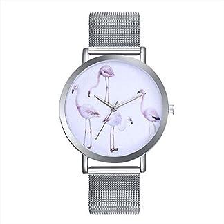 Sepbear-Unisexuhren-Analog-Quarz-Flamingo-Armbanduhr-mit-Edelstahl-Armband-und-Batterie-Uhren-fr-Frauen-und-Herren