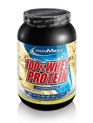 IronMaxx 100% Whey Protein / Whey Proteinpulver auf Wasserbasis / Eiweißpulver mit Weiße Schokolade Geschmack / 1 x 900 g Dose