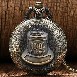 WUAIDING-Taschenuhr-Vintage-Bronze-Retro-Kongfu-Shao-Lin-Tempel-Big-ACDC-Hells-Bell-Taschenuhr-mit-Kette-Halskette-fr-Mnner