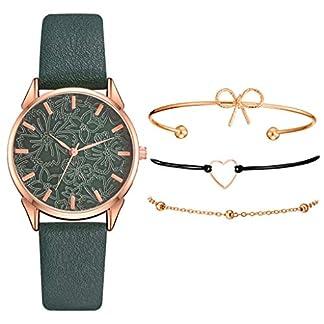 Armband-Damen-Uhr-Set-Anhnger-Analog-Quarzuhr-mit-PU-Leder-Schmuck-Geschenk-Set