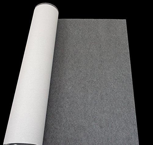 Deutscher Premium Filz 2,5-3mm 600/qm Bastelfilz Selbstklebend Grau Meterware 100cmx155cm