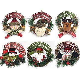 YEMOCILE-Frohe-Weihnachten-Weihnachtsmann-Schneemann-Kranz-Dekor-Dekoration-Innenaufnahme