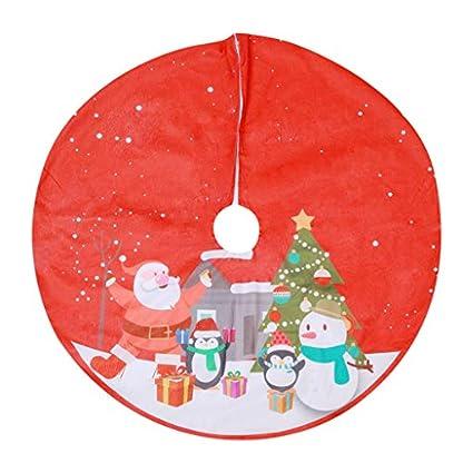 Y56TM-90-cm-Weihnachtsbaum-Rock-Christbaumdecke-Rund-Rot-Weihnachtsbaumdecke-Christbaumstnder-Teppich-Decke-Weihnachtsbaum-Deko