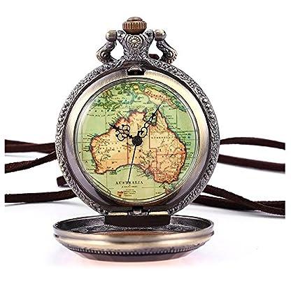 Retro-Armbanduhr-SODIALR-Australien-Karte-Taschenuhr-Analog-Quarz-Uhr-Bronze-Kettenuhr-Unisex