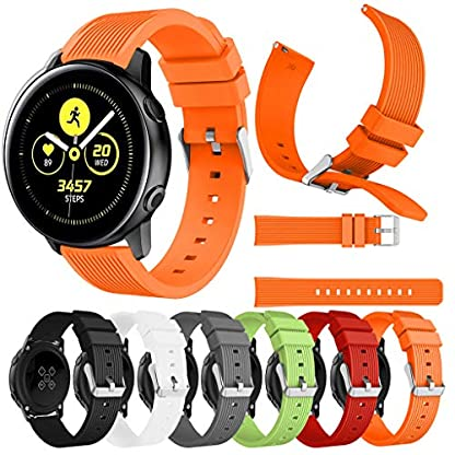 Battnot-Uhrenarmbnder-fr-Samsung-Galaxy-Watch-Active-Sport-Weiches-Silikon-Uhrenarmband-Handgelenksriemen-fr-Damen-Herren-Einstellbar-Ersatzband-Adjustable-Watch-Band-Replacement-Wriststraps-20mm