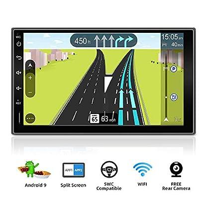 Android-90-Doppel-Din-Autoradio-fr-Navigation-Multimedia-178-cm-7-Zoll-HD-1024-x-600-Touchscreens-untersttzt-GoogleLenkradGPSWiFiBluetoothSpiegel-Link-kostenlose-Rckfahrkamera