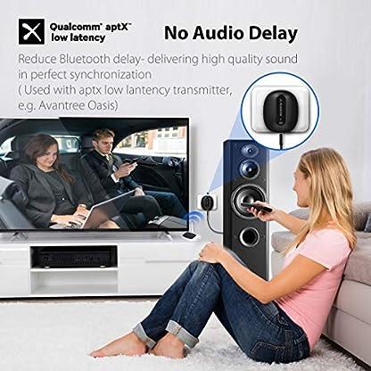 Avantree-Bluetooth-42-Empfnger-fr-Stereoanlage-mit-Stecker-aptX-Low-Latency-Musik-Receiver-Adapter-mit-35mm-Aux-Cinch-Kabel-fr-Musikstreaming-Soundsystem-HiFi-Roxa-Plus-2-JahrGarantie