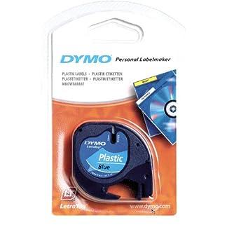 Dymo-S0721660-Etikettenband-LetraTag-Etikettiergerte-Kunststoff-12-mm-4-Meter-Rolle-schwarz-auf-wei