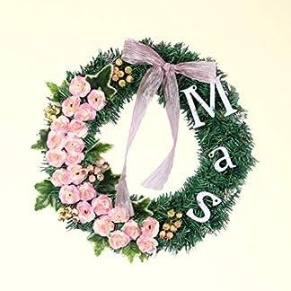 Amosfun-Weihnachtskranz-mit-Blumen-Weihnachten-Trkranz-Wandkranz-Adventskranz-Weihnachtsgirlanden-Trdeko-Wanddeko-Weihnachtsdeko-40cm