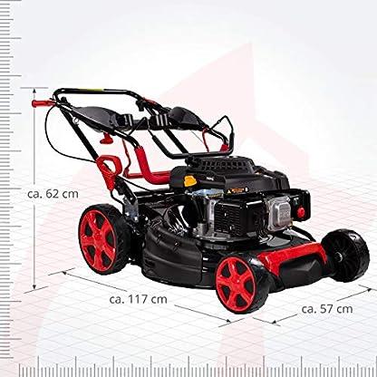 Rotfuchs-Benzin-Rasenmher-Selbstantrieb-5in1-Funktion-GT-Markengetriebe-196ccm-max-44kW6PS-53cm-Schnittbreite-62L-Grasfangkorb-Reinigungsfunktion