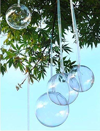 Rhinestone-Paradise-5-x-6cm-Transparente-Kunstoff-Kugeln-Bastel-Kugeln-Acrylic-Ball-Acryl-Kugel-Acrylkugeln-6-cm-60mm-Weihnachtsbaumkugeln-aufhngen-Ball-Kugel-befllbar-Partydeko-durchsichtig