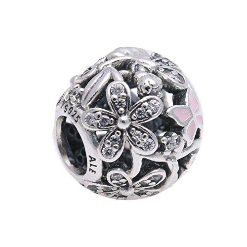 Pandora Damen-Charm Glanzvolle Elfe 925 Zirkonia pink-791841EN68