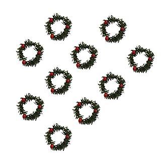 Baoblaze-10pcs-Mini-Adventskranz-Weihnachtsgirlande-Trkranz-Tannen-Kranz-Girlande-mit-roten-Beeren