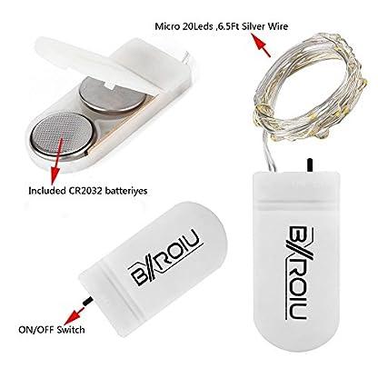 BXROIU-6-x-20er-Micro-LED-Lichterkette-mit-CR2032-Batterie-betrieb-Auf-2-Meter-Silberdraht-fr-Party-Garten-Weihnachten-Halloween-Hochzeit-Beleuchtung-Deko