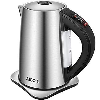 Aicok-Wasserkocher-Edelstahl-mit-Temperatureinstellung-4060708090-und-100-Grad-elektrischer-Wasserkessel-mit-Warmhaltefunktion-Kessel-mit-Automatischer-Abschaltung-2200-Watt-17-Liter-Schwarz