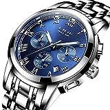 Herrenuhren-LIGE-Luxusmarke-Edelstahl-Analog-Quarzuhr-Wasserdicht-Sport-Herren-Uhren-Mode-Beilufig-Business-Armbanduhr