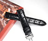 Original-Band-18mm-Lederuhr19mm20mm22mm-Spange-Uhrenarmband-Ersatz-Uhrgurt-Silber-Einsatz
