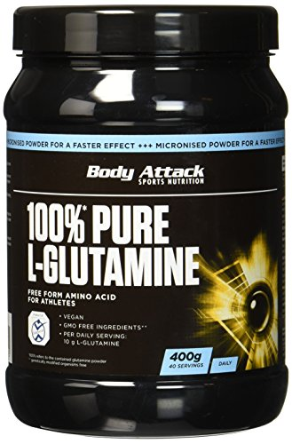 Body Attack 100% Pure L-Glutamine, 1er Pack (1 x 400g)