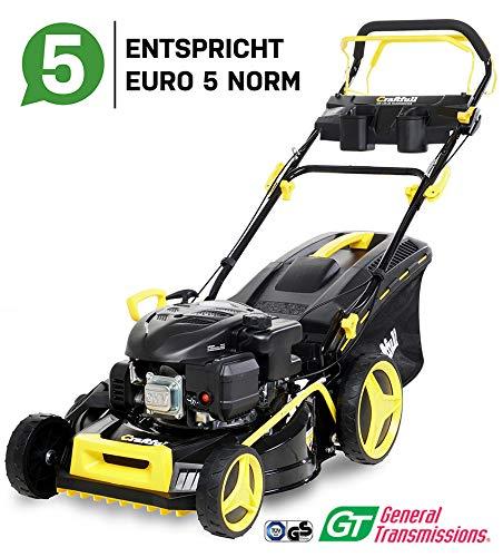 Craftfull-Premium-Benzin-Rasenmher-5in1-Euro-5-32-Kw-44-Kw-6-Ps-139ccm-196-ccm-4-Takt-Motor-GT-Markengetriebe-4853-cm-Schnittbreite-Selbstantrieb-Easy-Clean
