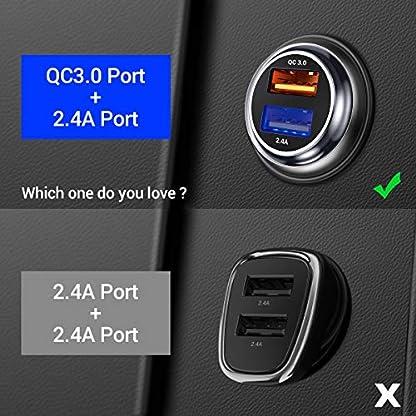 Quick-Charge-30-Auto-Ladegert-QC-30-USB-Auto-Adapter-KFZ-Ladegert-2-Port-30W-Aluminium-Legierung-Gehuse-Autoladegert-fr-Phone-XRPlus-Galaxy-S8S7-Huawei-P9P10-by-AINOPE-MEHRWEG