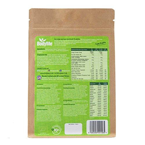 BodyMe Bio Vegan Protein Pulver Mischung | Naked Natürliche | 250g | UNGESÜßT mit 3 Pflanze Proteine