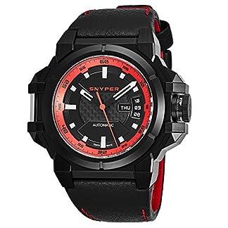 Snyper-Herren-Armbanduhr-48mm-Armband-Leder-Schweizer-Automatik-2025500