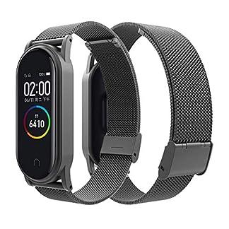 Siswong-fr-Xiaomi-Mi-Band-4-Armband-Ersatzband-Edelstahlarmband-Wasserdicht-atmungsaktiver-Verstellbarer-Gurt-Replacement-Wrist-Strap