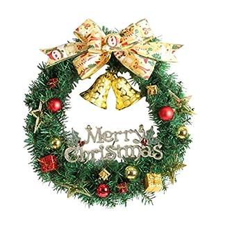 WINOMO-Weihnachten-Kranz-Bowknot-Weihnachtskranz-Tannenkranz-mit-kugeln-Stern-Geschenke-Weihnachtsdeko-Tr-Wand-Ornament