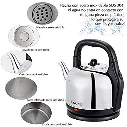 Wasserkocher-mit-42L-Lagerkapazitt-SUS304-gesundem-Edelstahl-Wasserkessel-und-Selbstabschaltung-kochfestem-Schutz-Teekessel-Kettle-Kabellos-Silber-2000W
