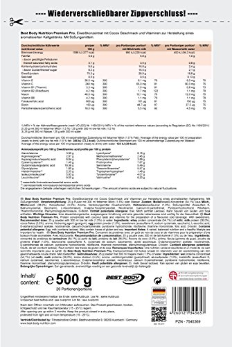Best Body Nutrition Premium Pro Protein Cocos , 1er Pack (1 x 500 g Beutel)